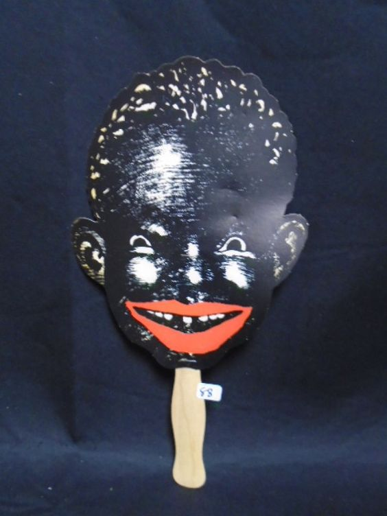 Vintage BLACK SAMBO PICCANINNY MENU Face Head Americana Original
