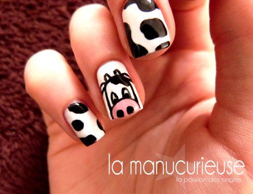 La Manucurieuse: [SNB] Nail Art - Cow Nails