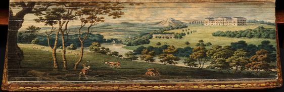 Fore-edge painting: 'Letters of Lady Rachel Russell', 1801, by J. Mawman: