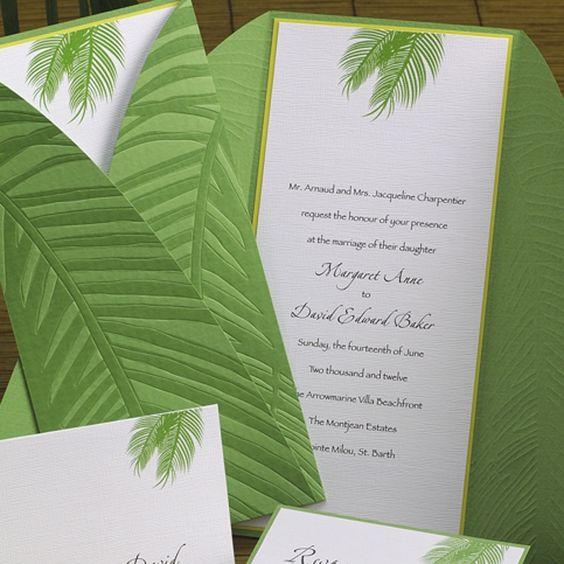Custom Made Beach Wedding Invitation