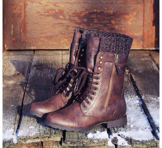 dark brown combat boots   Fashion   Pinterest   Brown, Dark brown ...