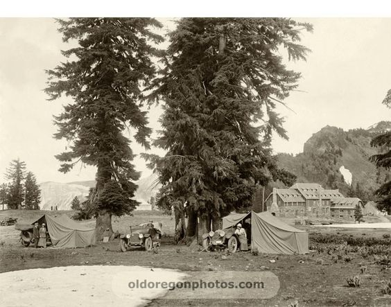 Car Camping At The Newly Completed Crater Lake Lodge 1916  Crater Simple Crater Lake Lodge Dining Room Menu Design Ideas
