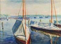 Segelboote am Wannsee von Philipp Franck