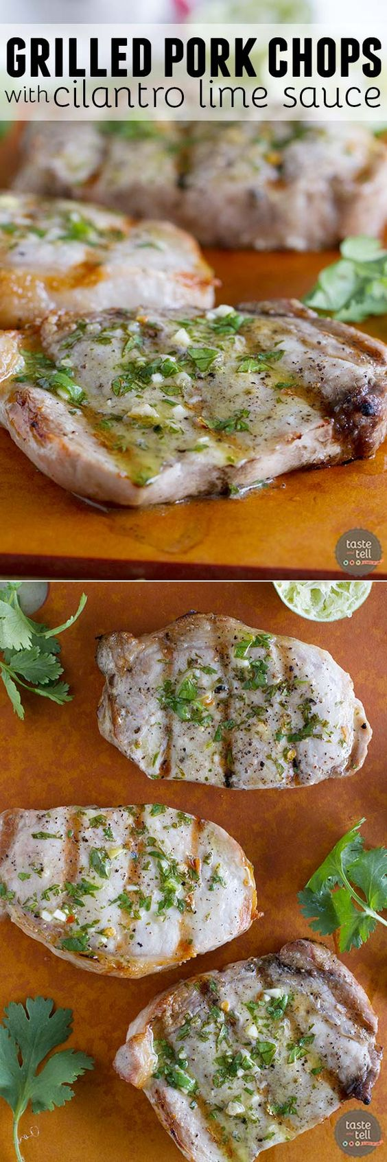 ... Lime Sauce | Recipe | Cilantro Lime Sauce, Grilled Pork Chops and