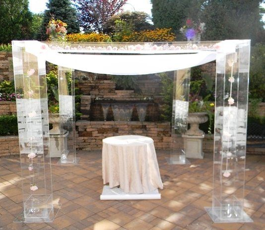 Wedding Chuppahs For Sale: Custom Made The Lucite Wedding Structure