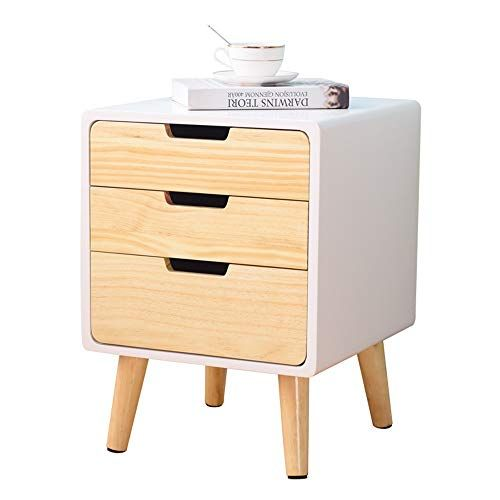 Axdwfd Bedside Table Solid Wood 3 Layer Sofa Side Table Perfect For Living Room Bedroom With Drawer Storage Sofa Side Table Table Storage Living Room Bedroom