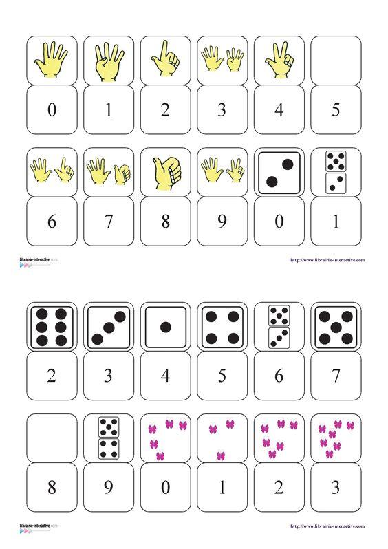 un petit jeu de dominos pour d couvrir les chiffres de 0. Black Bedroom Furniture Sets. Home Design Ideas