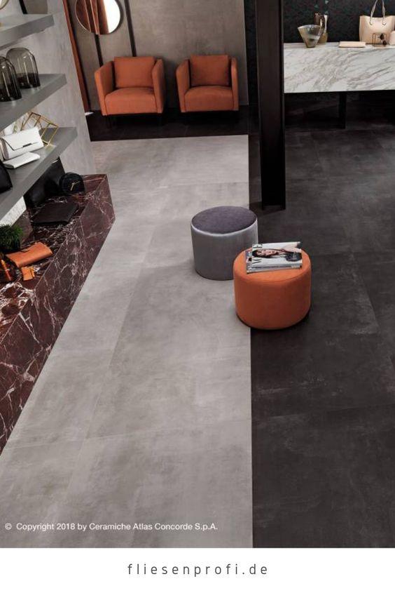 Fliese Zementoptik Schwarz 60x60 Boost Tarmac Amh7 Atlas