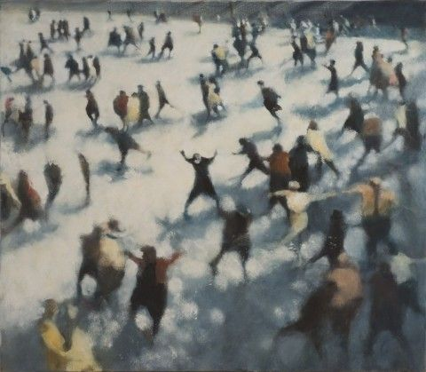 RA Summer Exhibition 2015 work 862 : AFTERNOON SKATERS III by Bill Jacklin RA, £40000.