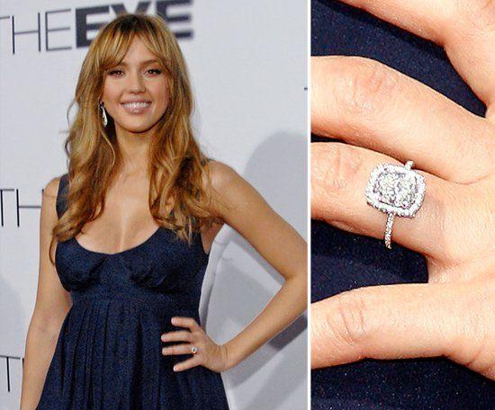 Pin for Later: Die schönsten Eheringe der Stars Jessica Alba Cash Warren kniete 2007 vor seiner Jessica nieder.