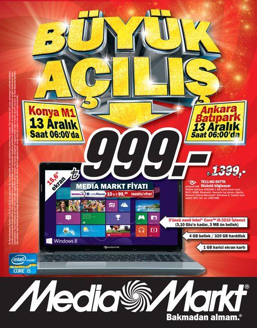 Media Markt 13 Aralık 2012 Ankara Batıpark AVM Açılış Özel İndirim Fırsatı