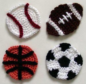 crochet sport ball appliques