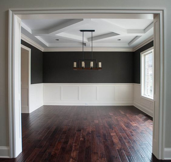 Pictures Of Wainscoting In Dining Rooms: Wainscoting And Dark Paint