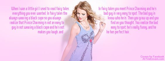 Taylor Swift Quote Facebook cover