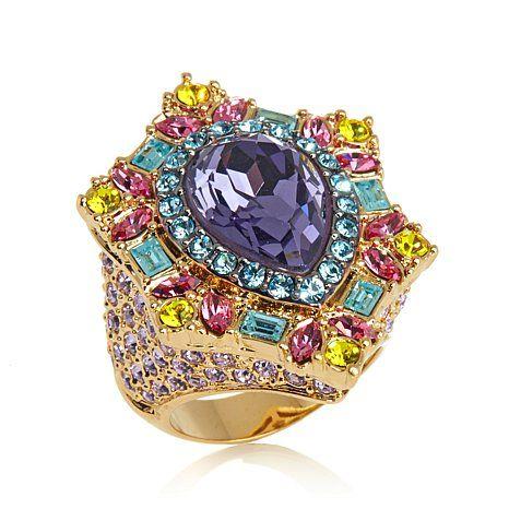 "AKKAD ""Tutti Frutti"" Multicolor Stone Pavé Ring"