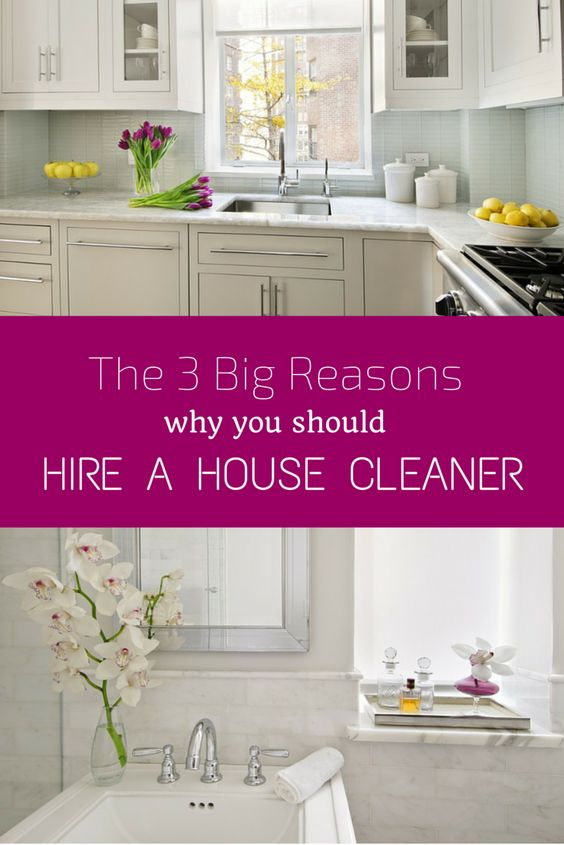 It may seem like a luxury, but hiring a housecleaner makes practical sense. Here are the big three reasons why you should do it.
