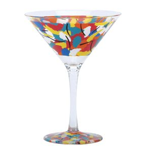 """Art-tini"" - Acrylic Martini Glass designed by Lolita $19.00"