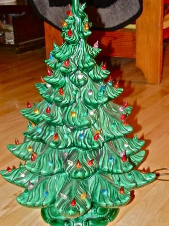 Vintage Ceramic Christmas Tree Details About 24 Vintage Ceramic