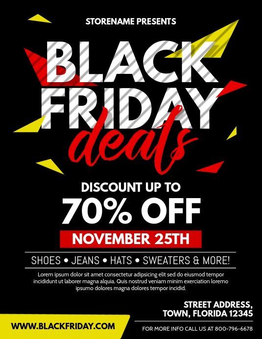 Black Friday Flyers Black Friday Black Friday Flyer Black Friday Stores