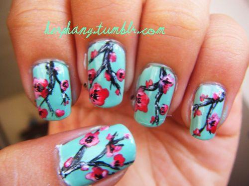 Arizona Green Tea nails