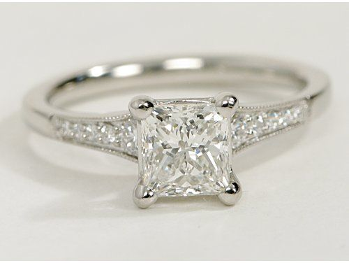 Petite Milgrain Diamond Engagement Ring- Not what I had thought of before, but so pretty!
