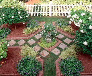 Ooh - who says you don't need geometry in real life? Gorgeous garden!