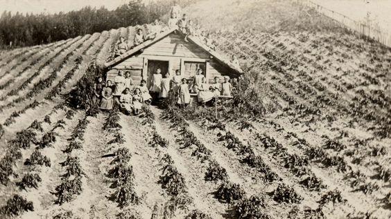 Girls (Eskimo) in potato field, 1910? – 1940?  | by Marquette University Archives