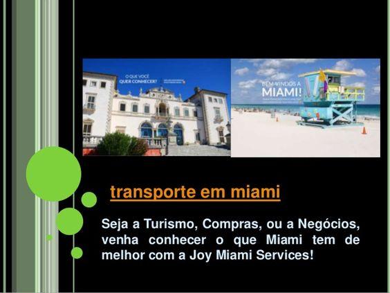 Visite o nosso site http://miamiturismofl.com/ para mais informações sobre Motorista em Miami.Miami é um dos destinos preferenciais veraneante do mundo. É recolhido por centenas e centenas de visitantes durante todo o ano. A maioria, naturalmente, todo mundo iria pegar um tipo particular de Transporte em Miami, dependendo de onde o indivíduo está situado em relação ao aeroporto de ter acesso a. Táxis, aluguel de carros, ônibus são Transporte em Miami.