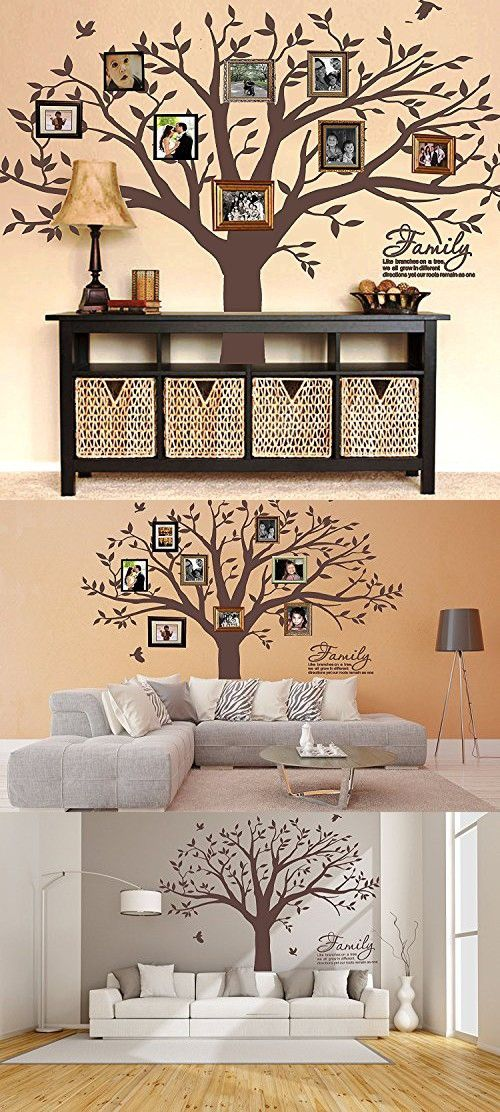 Mafent Family Tree Wall Decal Quote Family Like Branches On A Tree Lettering Tree Wall Sticker For Bedroom Decoration Dark Brown Family Tree Wall Family Tree Wall Decal Family Tree Wall