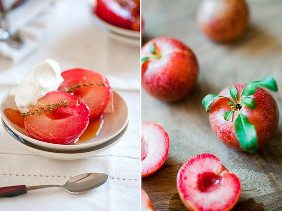 Riesling poached plums