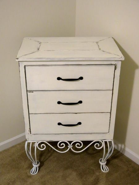 Antique Chest.  Old iron legs made to look newer, new wood made to look old...