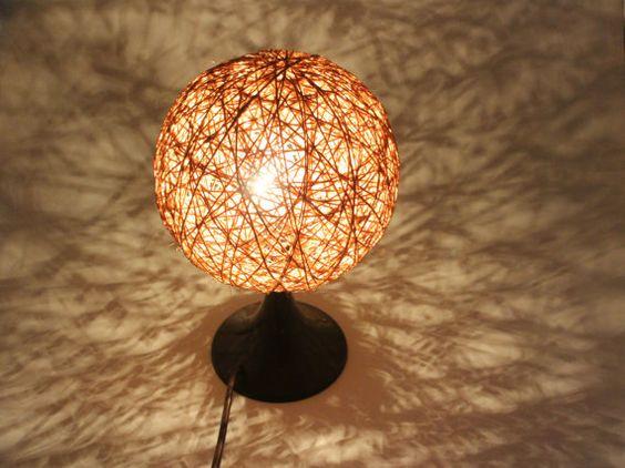 Vintage brown tulip desk lamp eames style modernist balloon lamp – Tulip Desk Lamp