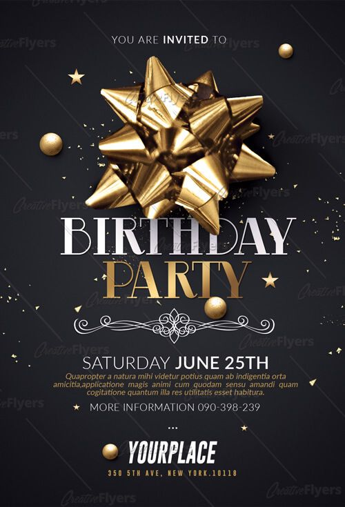 Birthday Flyer Template Png