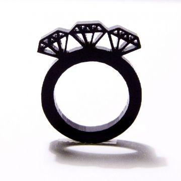 トリプルダイヤモンドリング / BLACK by Jen Murse