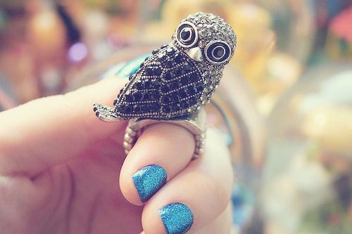 <3 owl ring.
