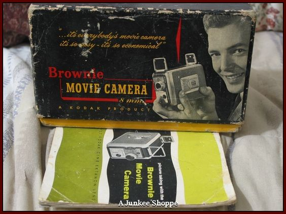 KODAK 1955 Brownie 8mm Model 82 Movie Camera In Original Box With Pamplet  IMG 3696 http://ajunkeeshoppe.blogspot.com/