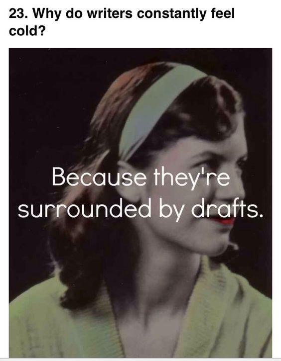 Writer joke: