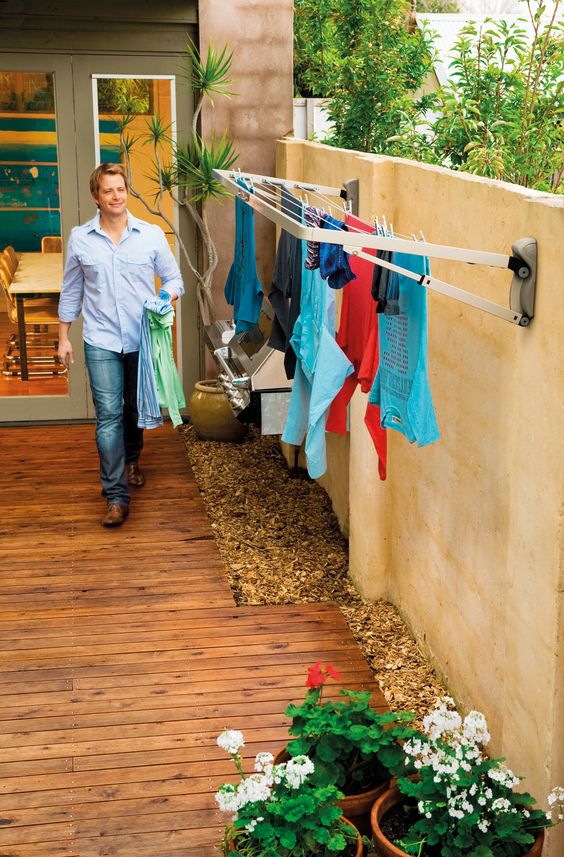 Hills Supa Fold Compact Washing Line Clotheslines