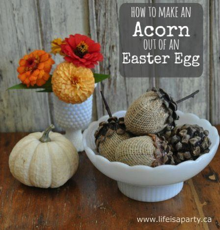 Acorn craft diy how to make an acorn out of a plastic for Diy acorn crafts