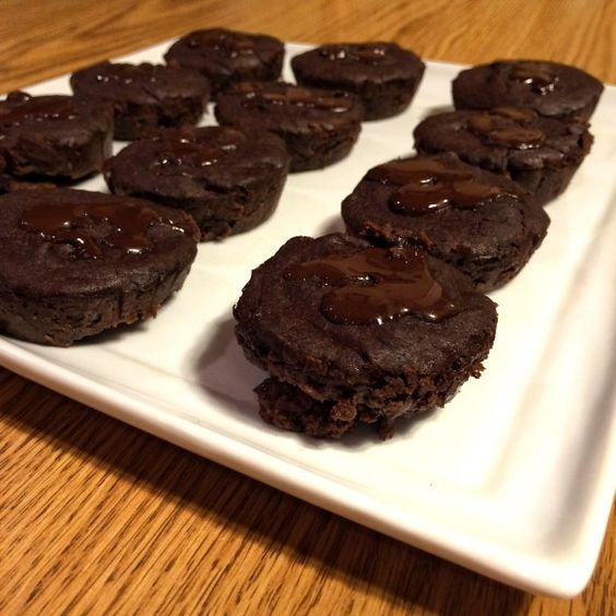 Gooey black bean brownies