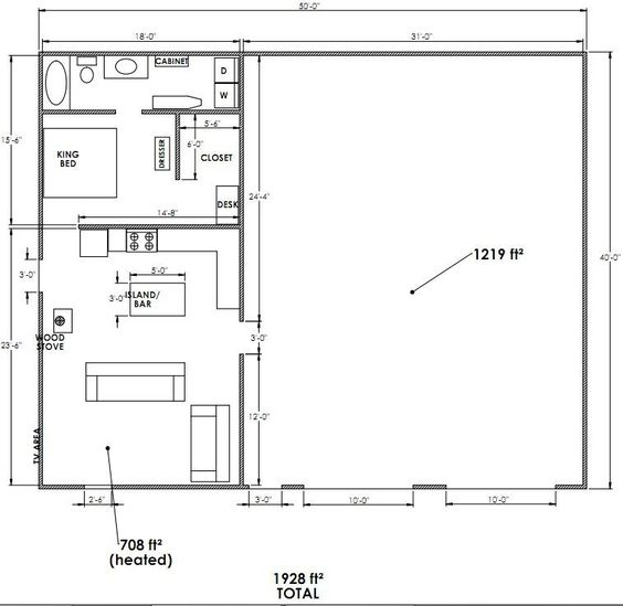 Metal Buildings With Living Quarters Floor Plans Google Search