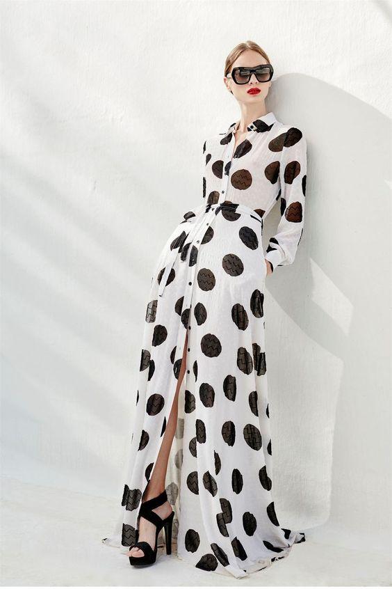 Лучшие модные платья в горошек