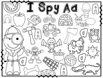 Alphabet I Spy Alphabet Sheets for Letter Sound Recognition | I ...