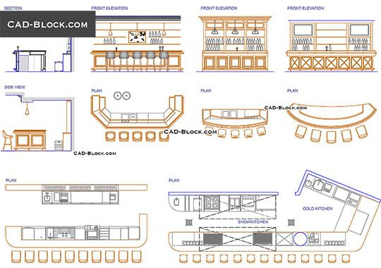 Bar Design Free Autocad Blocks Bar Design Interior Design Software Restaurant Layout
