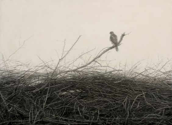 Julio Reyes (graphite and ink on gessoed panel)