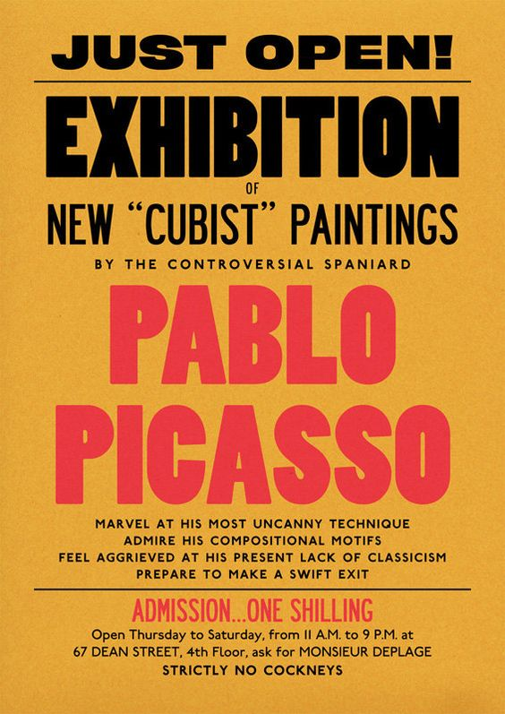Picasso Poster Print Modern Art 20th Century by StandardDesigns, £14.00: