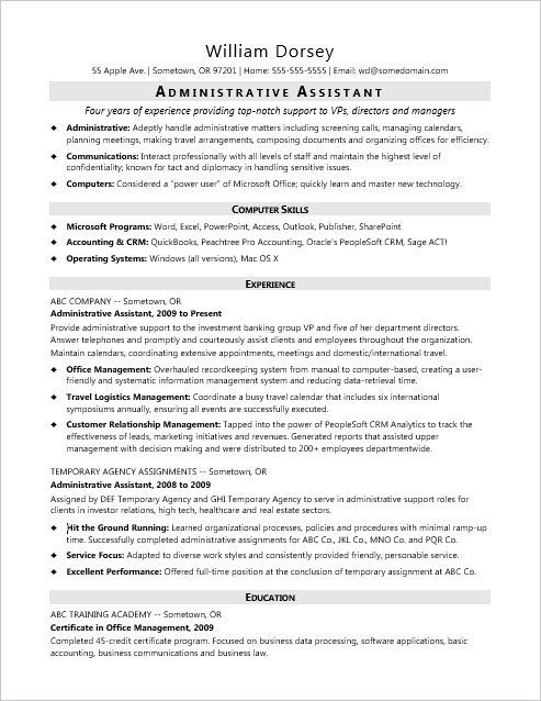 This Sample Resume For A Midlevel Administrative Assistant Shows