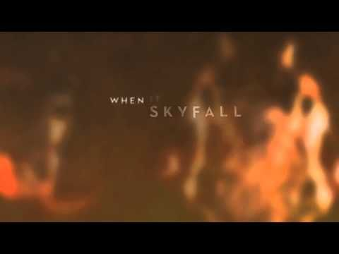 """""""This is the end / hold your breath and count to ten"""" Skyfall - Adele - steady, strong, foreboding, accept your fate"""