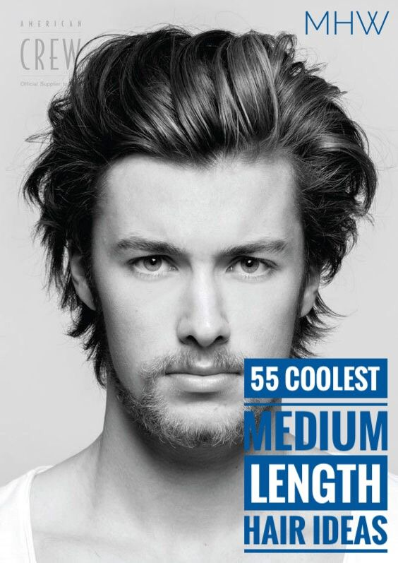 55 Coolest Medium Length Hairstyles For Men Thick Hair Styles Medium Length Hair Styles Long Hair Styles Men