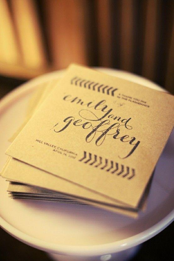 Great idea to use a CD as a wedding favor!